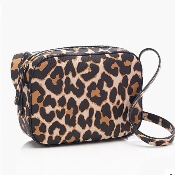 35592ec9 J.Crew leopard print Crossbody Bag